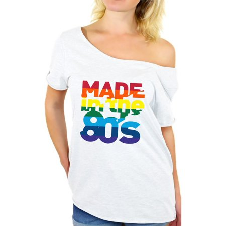 Awkward Styles Made in the 80s Shirt Rainbow 80s T shirt Rainbow Shirt 80s Birthday Shirt Gay Pride Shirt 80s Accessories 80s Rock T Shirt 80s T Shirt 80s Costume 80s Clothes for Women 80s Outfit - Optimus Prime Outfit