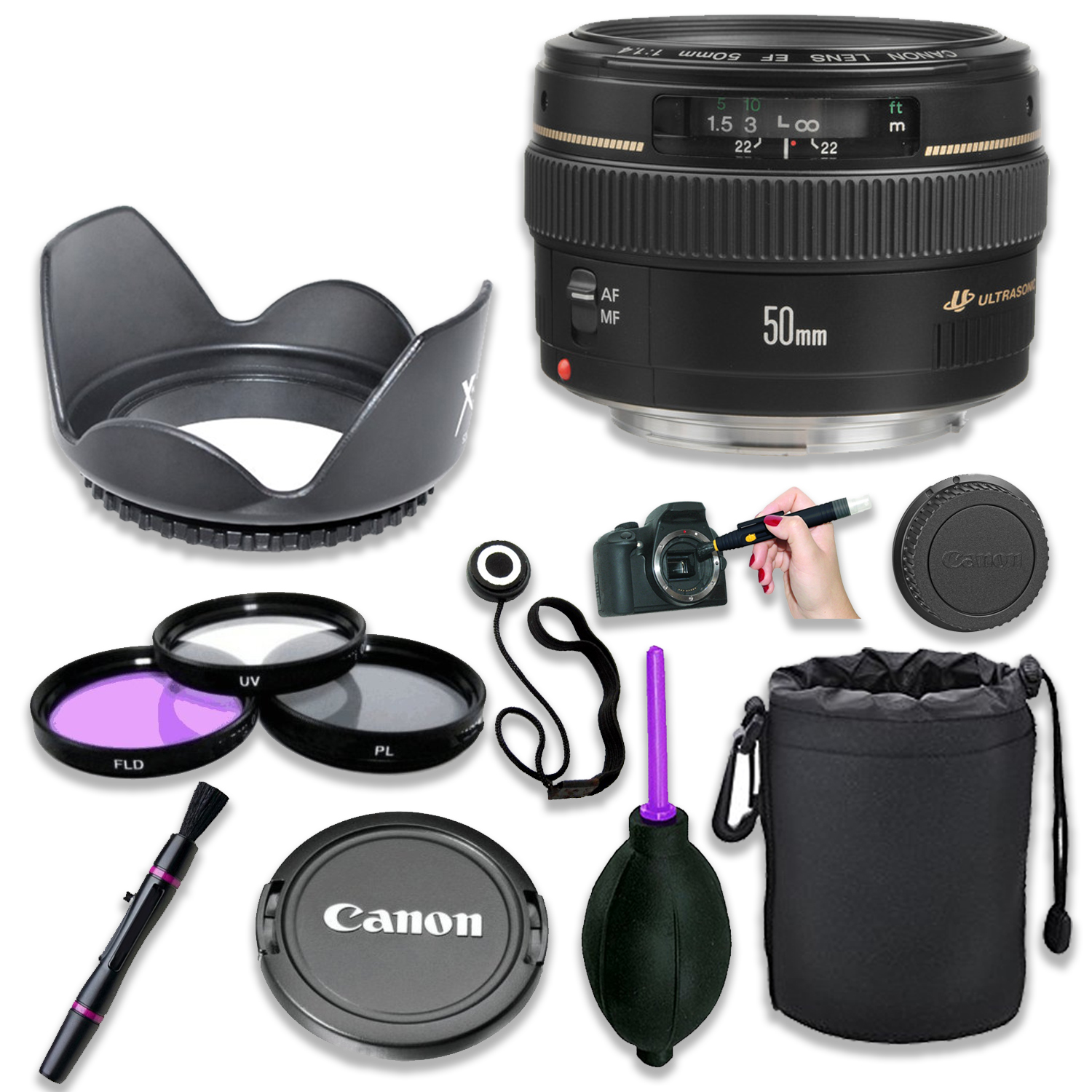 Lens Cap Cover Keeper Protector for Canon EF 50mm f//1.4 USM Lens