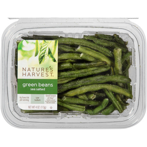 Nature's Harvest Sea Salted Green Beans, 4 oz