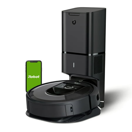 iRobot Roomba i7+ (7550) Robot Vacuum with Automatic Dirt Disposal- Wi-Fi Connected, Smart Mapping, Works with Google Home, Ideal for Pet Hair, Carpets, Hard Floors