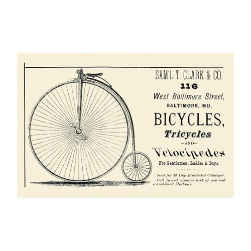 Bicycles, Tricycles, And Velocipedes Print (Canvas Giclee 12x18)