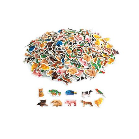 Colorations Real Photo Animal Foam Stickers - 500 Pieces (Item # REALSTK) - Foam Animals
