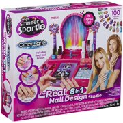 Shimmer and Sparkle Crazy Lights 8 In 1 Super Nail Salon with Lite Up Nail Dryer