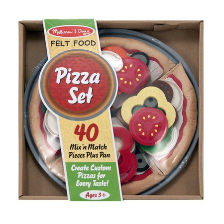 Melissa & Doug Felt Food Mix 'n Match Pizza Play Food Set (40