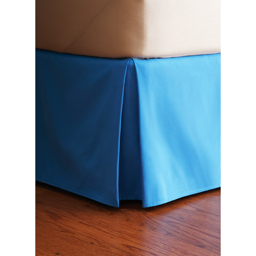 "Your Zone Bright Blue 14"" Drop Bed Skirt"