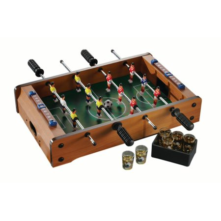 FOOSBALL TABLE GAME WITH SIX SHOT GLASSES