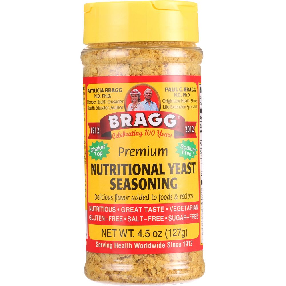 Bragg Seasoning Nutritional Yeast, 4.5 Oz (Pack Of 12) by
