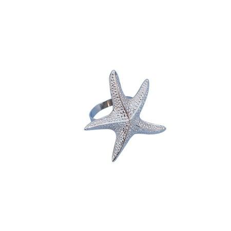 Chrome Starfish Napkin Ring 3