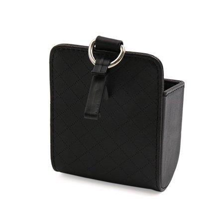 Faux Cuir Noir Texture Rhombus Poche Rangement Pochette téléphone Support pour Voiture - image 1 de 3