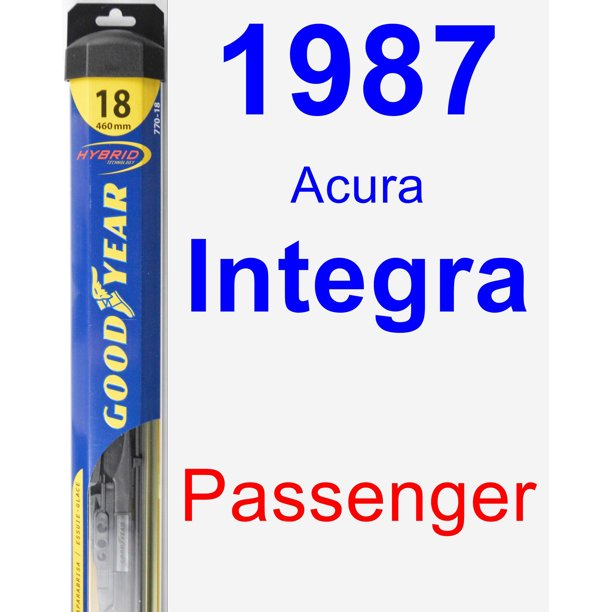 1987 Acura Integra Passenger Wiper Blade