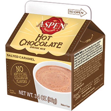 Aspen Mulling Hot Chocolate, Salted Caramel, 4-pack