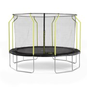 Plum Play Wave 14' Trampoline, with Safety Enclosure, Black/Green