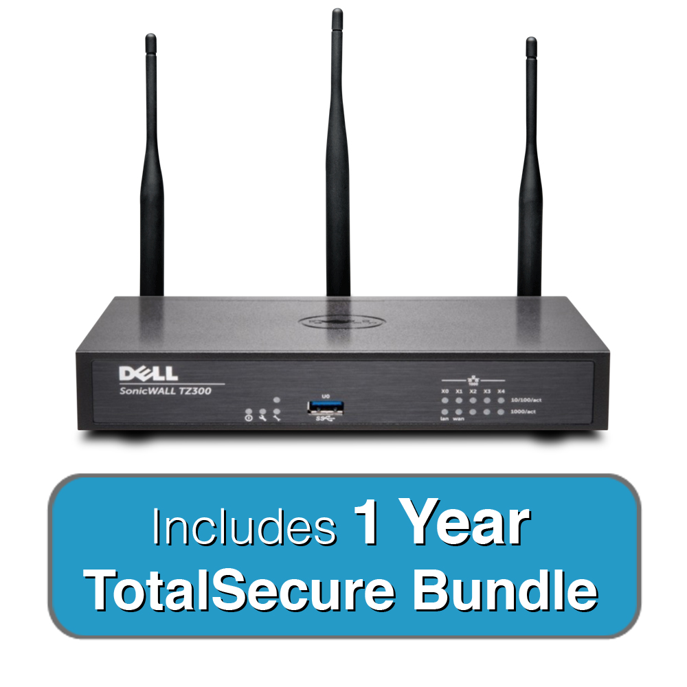 Dell Sonicwall Tz300w Wireless Totalsecure Bundle
