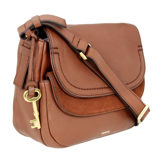 4f70858d92a Fossil - Fossil Peyton Ladies Small Brown Leather Crossbody Handbag ...