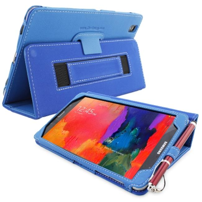 Snugg B00KTHSK3S Galaxy Tab PRO 8. 4 Case Cover and Flip Stand, Electric Blue Leather