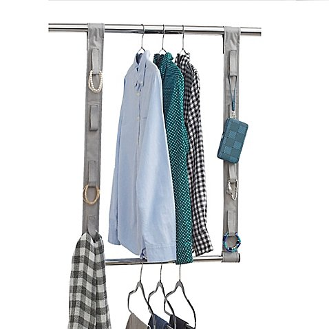 Studio 3B Closet Rod Hanging Extension with Fabric Straps...