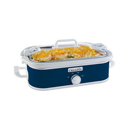 Sunbeam Products SCCPCCM350-BL Crock Pot Slow Cooker, 3.5-Qt. (Crock Pot Casserole Slow Cooker)