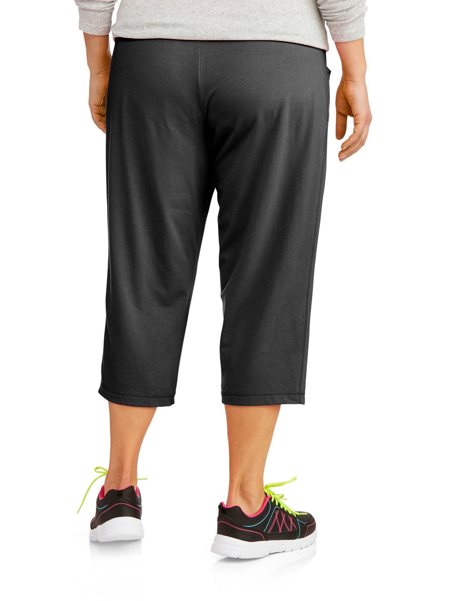 e5f8ca4bc27 Danskin Now - Danskin Now Women s Plus-Size Essential Knit Capris with  Drawstring - Walmart.com