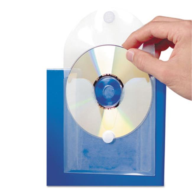 Baumgartens Top Loaded Adhesive CD/DVD Pockets 1 CD/DVD 5 Pack CLEAR (61801)