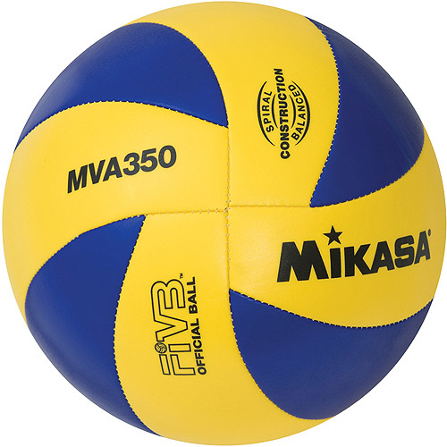 Mikasa MVA350 Olympic Replica Varsity Outdoor Volleyball, Blue/Yellow