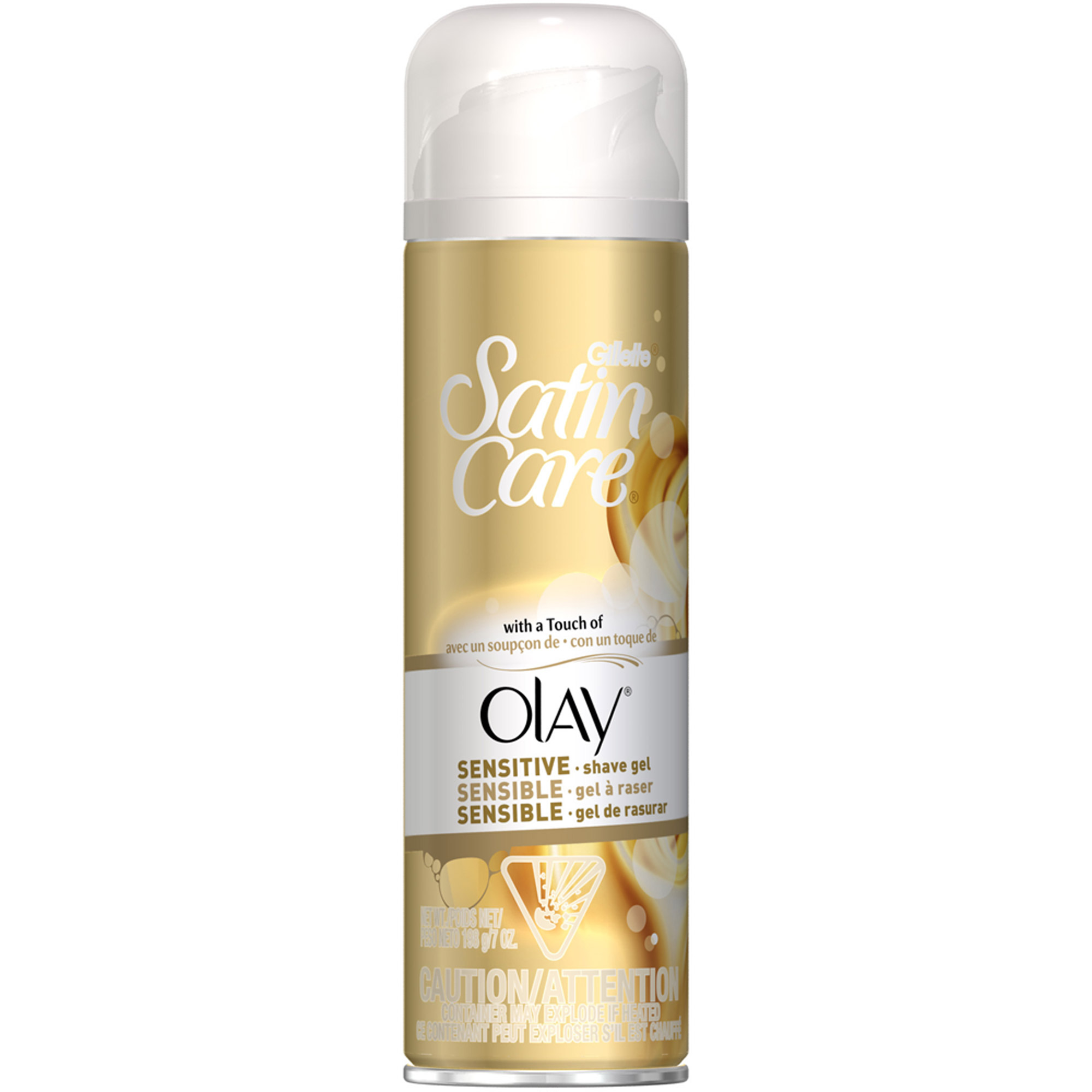 Stilig P & G Gillette Satin Care with a Touch of Olay Shave Gel, 7 oz YD-24