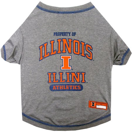 Pets First Collegiate Illinois Fighting Illini Pet T Shirt  Assorted Sizes