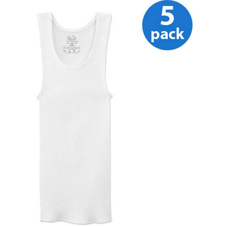 Fruit Of The Loom Boys 100  Cotton White Tank Undershirts 5 Pack