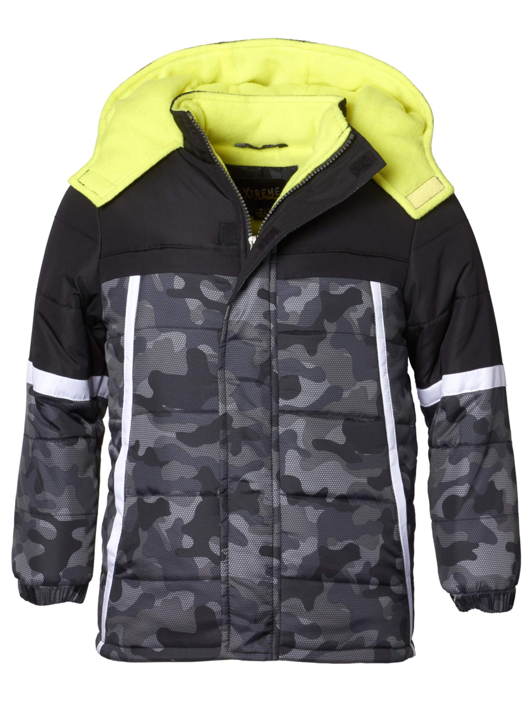 Camo Printed Puffer Jacket (Big Boys)