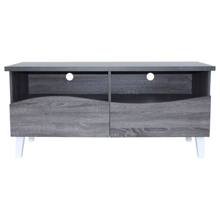 Gwendolyn  Faux Wood Overlay TV Stand in Gray Oak ()