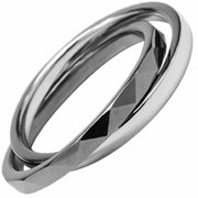 AAB Style GRTS-65R Double Banded Tungsten and Stainless Steel Ring