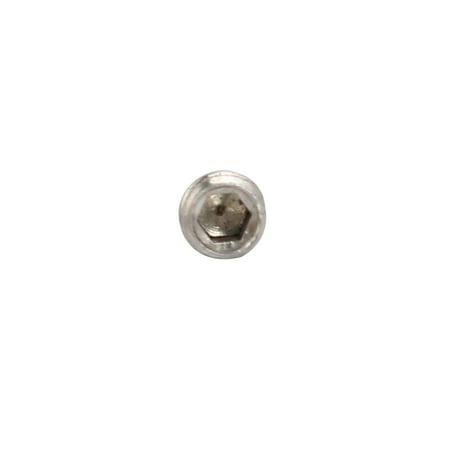 Unique Bargains 100 Pcs M2.5x3.2mm 304 Stainless Steel Hex Socket Cylinder Point Grub Screw - image 1 de 3