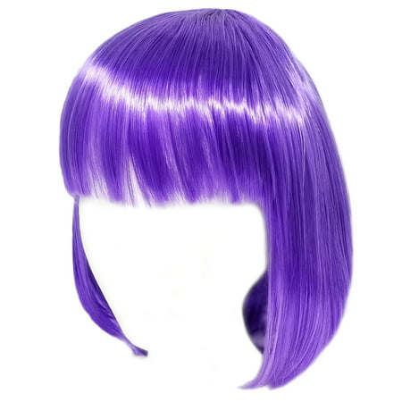 SeasonsTrading Economy Purple Bob Wig - Adult Costume Cosplay Party Wig](Purple Bob)