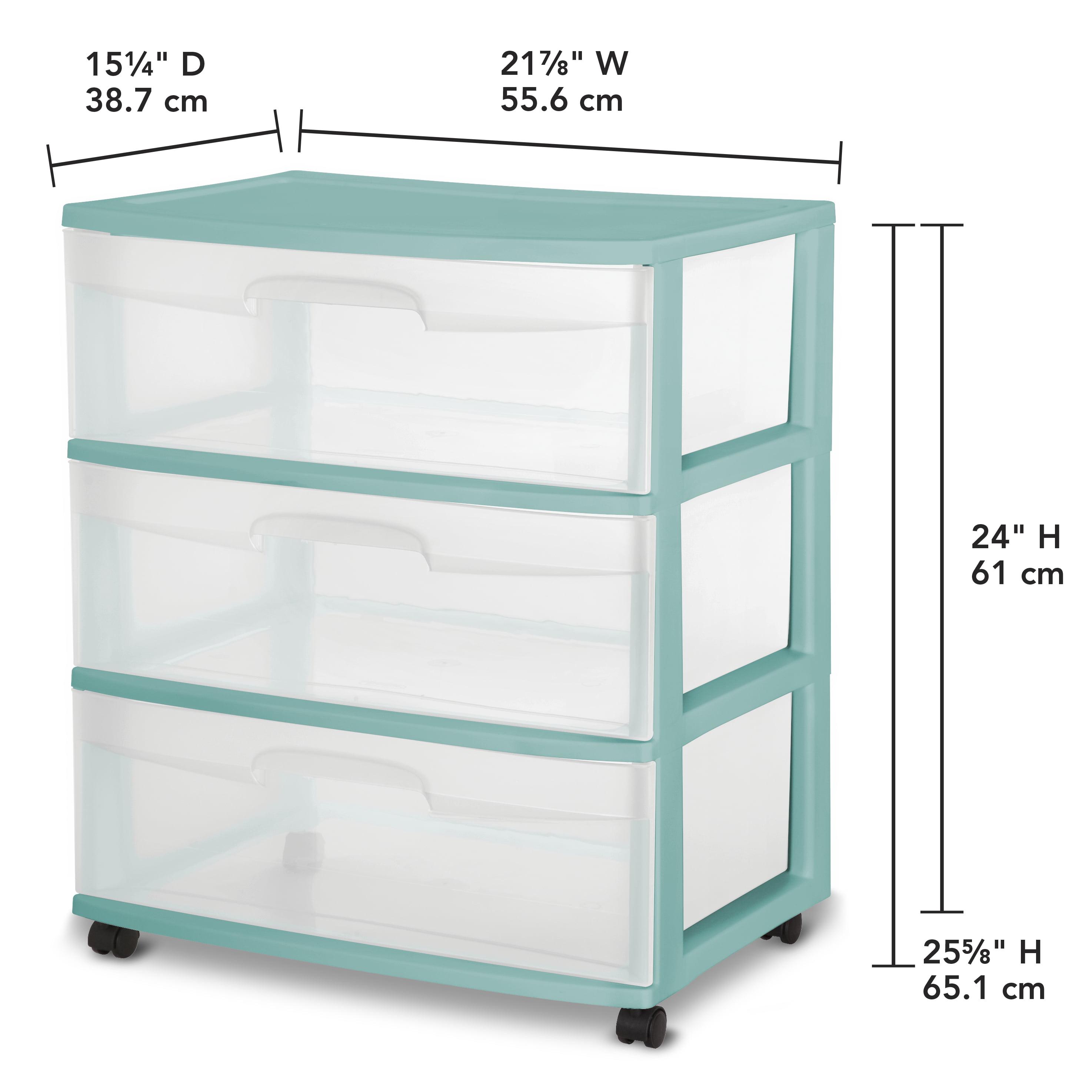 Sterilite 3 Drawer Wide Cart, Fuchsia Supreme, Single - Walmart.com