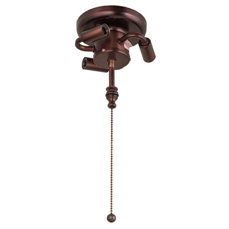 10 in. Pull Chain Flush Cluster Ceiling -