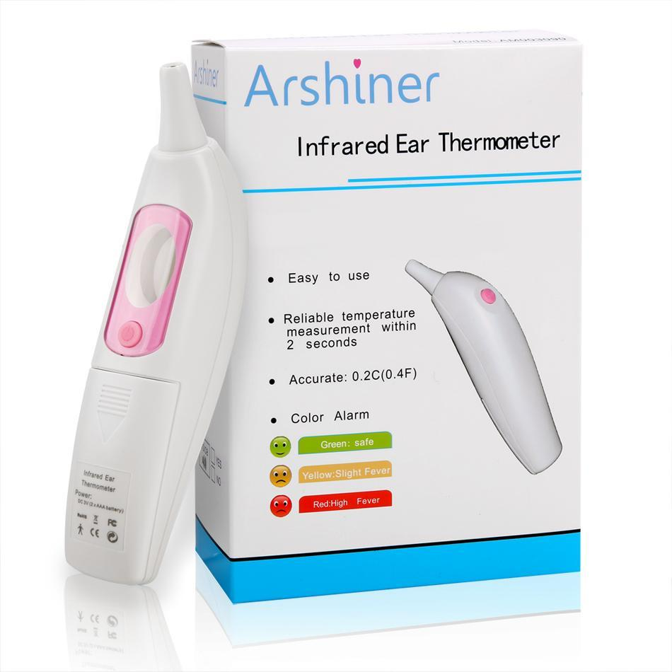 Infrared Ear Thermometer with LCD Display Readout