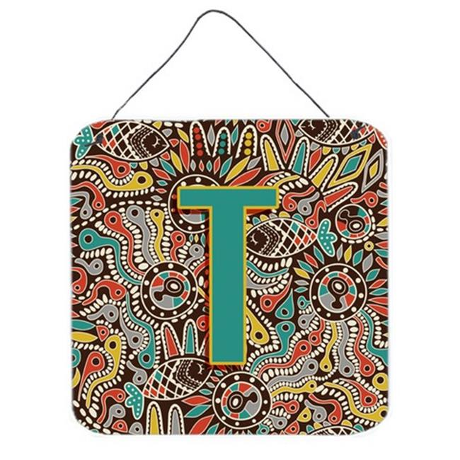 Carolines Treasures CJ2013-TDS66 Letter T Retro Tribal Alphabet Initial Wall and Door Hanging Prints - image 1 de 1