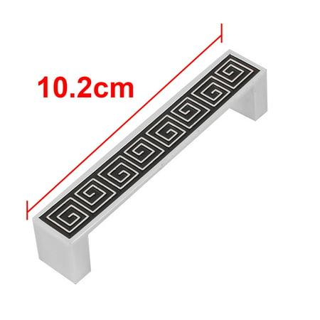 Dorm Metal Rectangle Shape Screw Mounted Door Garderobe Drawer Pull Handle 5pcs - image 1 of 5