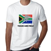 South Africa Olympic - Weightlifting - Flag - Silhouette Men's T-Shirt
