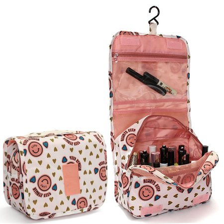 8627f2f7201a Portable Hanging Toiletry Bag/ Portable Travel Organizer Carry Tote Cosmetic  Bag for Women Makeup or Men Shaving Kit with Hanging Hook for vacation ...