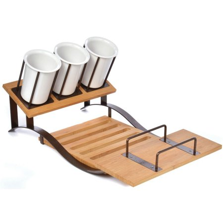 Buffet Display Stand Made of EcoFriendly Bamboo- 23 1/2 L x 14