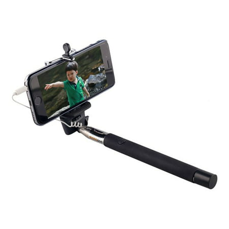 inland products proht 02523 wired remote selfie stick black. Black Bedroom Furniture Sets. Home Design Ideas