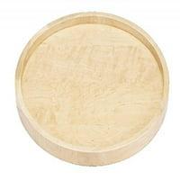 Rev-A-Shelf 4WLS001-32-B52 32 in. Wood Full Circle Lazy Susan Single Shelf with Swivel Bearing by Rev-A-Shelf