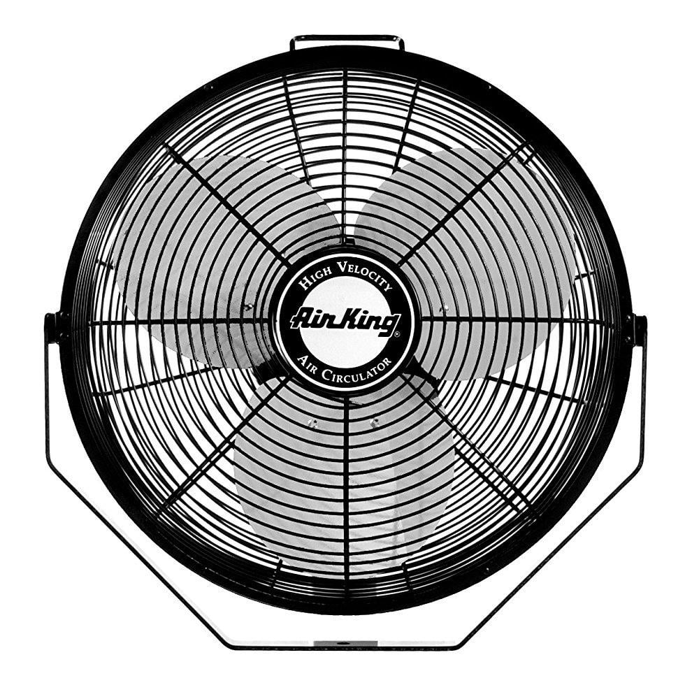 Air King 9312 Powder Coated Steel Multi Mount Wall Fan Black