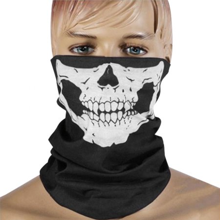 Ejoyous Motorcycle Face Mask Skull Mask Half Face for Out Riding Motorcycle Black Motorcycle Snowboard Cycling Hiking Perfect Halloween Mask Outdoor Face Mask,Motorcycle Face Masks