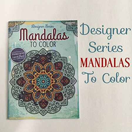 Mandalas To Color Adult Coloring Book Featuring Mandala Modern Patterns Flowers Paisly Nature Henna Stress Relief Relaxation - Coloring Book Flowers