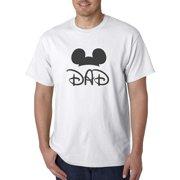 New Way 670 - Unisex T-Shirt Dad Fan Mickey Ears Family