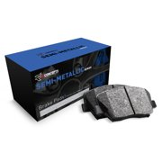 Rear R1 Concepts Semi-Met Series Brake Pad With Rubber Steel Rubber Shims