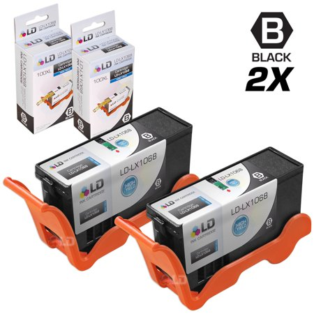 Compatible Lexmark 100XL 14N1068 Set of 2 High Yield Black Inkjet Cartridges ()