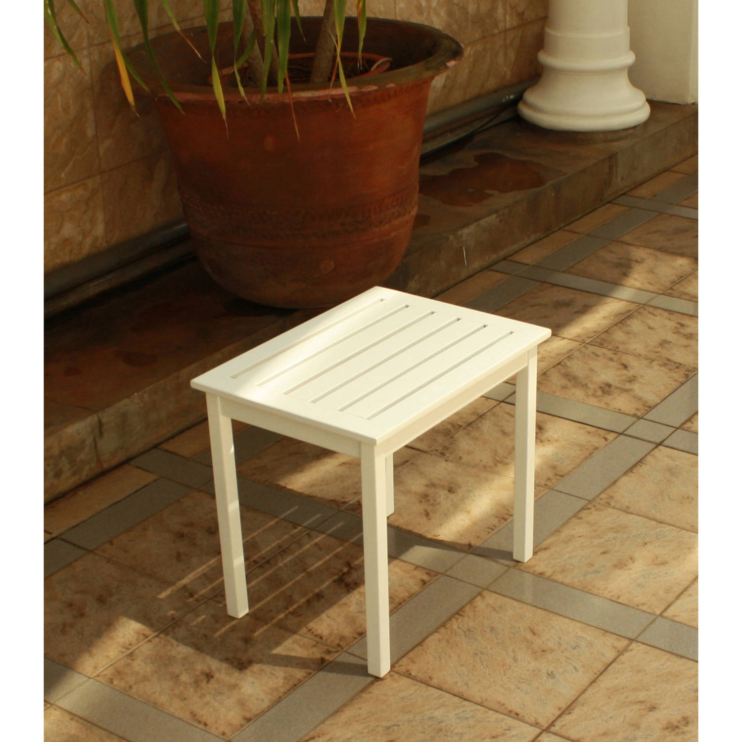 Mainstay Side Table, White