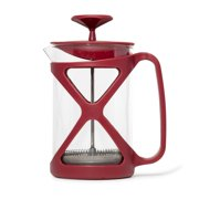Primula Tempo French Press, Premium Filtration with No Grounds, Heat Resistant Borosilicate Glass, 8 Cup, Black